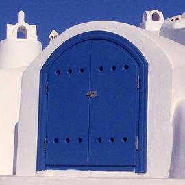 Colette V Hera  Guggenheim  - Blue Door Santorini Island Greece