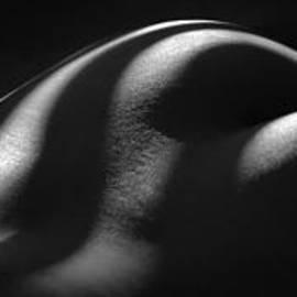 Chris Maher - 1220 Zebra Striped Nude Back and Bottom Fine Art BW Nude 1 to 3 Ratio