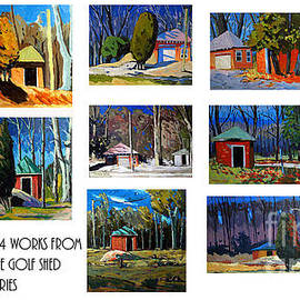 Charlie Spear - 14 WORKS from the Golf Shed Series