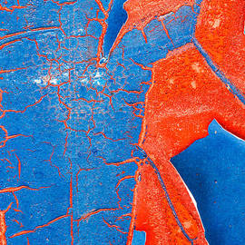 Dawna  Moore Photography - Peeled Paint Abstract