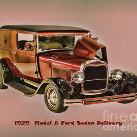 B Wayne Mullins - 1929 Ford Model A Retro Image
