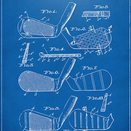 Nikki Marie Smith - 1936 Golf Club Patent Blueprint