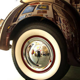Jerry Cowart - Classic Maroon 1940 Ford Rear Fender and Wheel