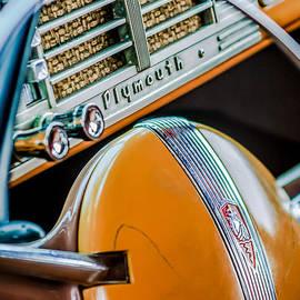Jill Reger - 1940 Plymouth Deluxe Woody Wagon Steering Wheel Emblem -0116c