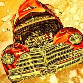 Lesa Fine - 1948 Chevy Gold Acid Art