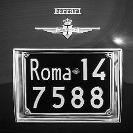 Jill Reger - 1951 Ferrari 212 Export Berlinetta Rear Emblem - License Plate -0775bw