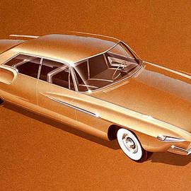 John Samsen - 1962 DESOTO  vintage styling design concept rendering sketch