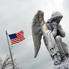 John Hanou - American Flag and Angel Fairview Cemetery Jasper Indiana 2008