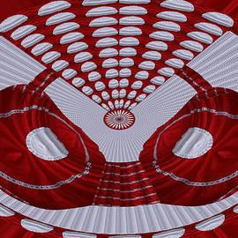 Navin Joshi - Bra  design by NavinJOSHI Artist Red Silk patchwork glamour drama dramatic artistic deco decor decor