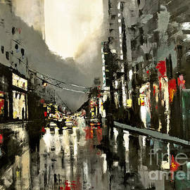 Maja Sokolowska - Cityscape oil painting