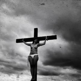 Ramon Martinez - Crucifix and landscape