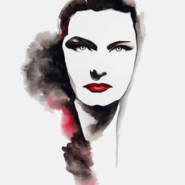 Mahsa Watercolor Artist - Karady Katalin Portrait