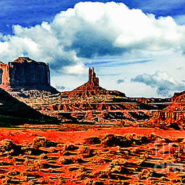 Dr Bob and Nadine Johnston - Monument Valley Painting