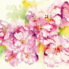 Tiberiu Soos - Sakura - Cherry Tree Blossom Watercolor