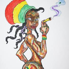 Stormm Bradshaw - Smoking Rasta Girl