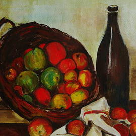 Veronica Rickard - Still Life with Apples after Cezanne - painting