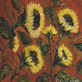 Halina Plewak - Sunflowers I