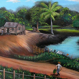 Gloria E Barreto-Rodriguez - Walking Home