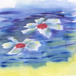 Frank Bright - 2 Water Lilies