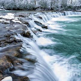 Thomas R Fletcher - Winter Waterfall
