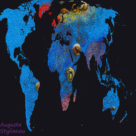 Augusta Stylianou - World Map and Cancer Constellation