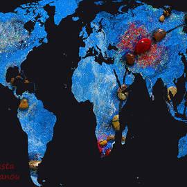 Augusta Stylianou - World Map and Scorpio Constellation
