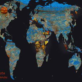 Augusta Stylianou - World Map and Taurus Constellation