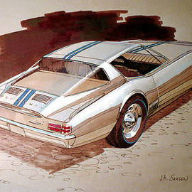 John Samsen - 1967 BARRACUDA  Plymouth vintage styling design concept rendering sketch