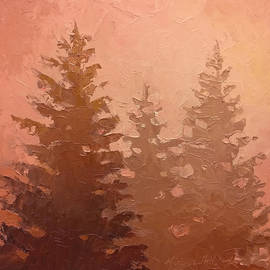Karen Whitworth - 3 Cedars in the Fog No. 1