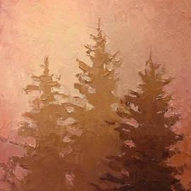 Karen Whitworth - 3 Cedars in the Fog No. 2