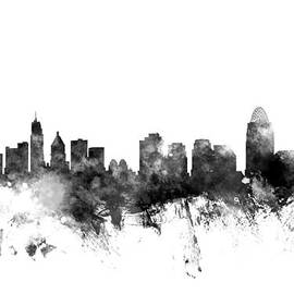 Michael Tompsett - Cincinnati Ohio Skyline