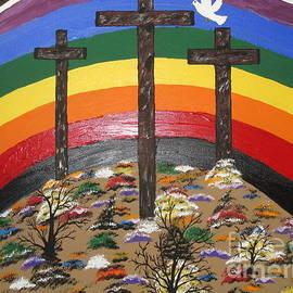 Jeffrey Koss - 3 Crosses and A Rainbow