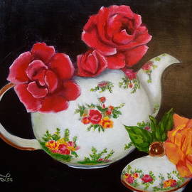Jenny Lee - Teapot and Roses