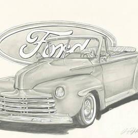 Raquel Ventura - 46 Convertible Ford