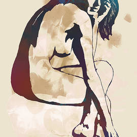 Kim Wang - Nude pop stylised art poster