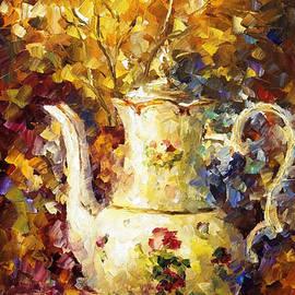 Leonid Afremov - 5 Oclock Tea - PALETTE KNIFE Oil Painting On Canvas By Leonid Afremov