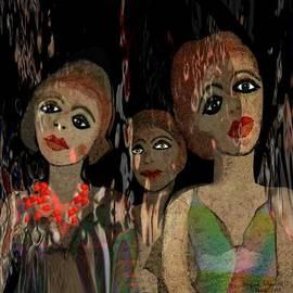 Irmgard Schoendorf Welch - 562 - Three young girls