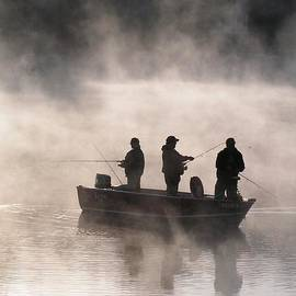 Robin Lee Mccarthy Photography - #763 D70 Fishing At Dawn Vertical