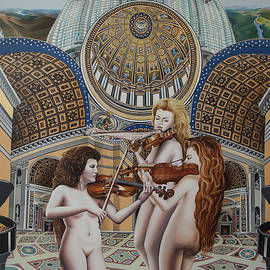 Moshe Rosental - The Three Graces -detail