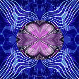 972 - Mandala   purple blue