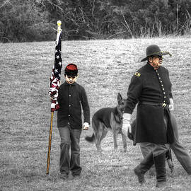 John Straton - A Boy His Dog and The Flag Civil War V2 Tinted