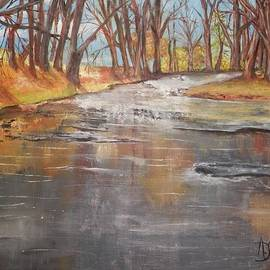 Annamarie Sidella-Felts - A Cold Day at the Creek