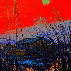 Joseph Coulombe - A Digital Marina Sunset