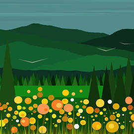 Val Arie - A Field of Flowers - Square