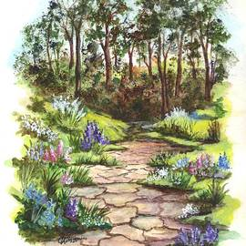 Carol Wisniewski - A Floral Pathway Vignette