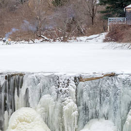 Stroudwater Falls Photography - A Frozen Waterfall Barbecue