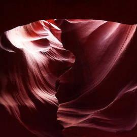 Jeff  Swan - A heart inside Antelope Canyon