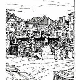 Ira Shander - A Little Town and Marketplace in Old Galicia