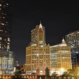 Frozen in Time Fine Art Photography - A Night over the Chicago River