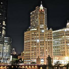 Frozen in Time Fine Art Photography - A Panoramic Night in Chicago